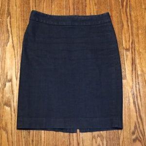J Crew Denim Pencil Skirt Size 6